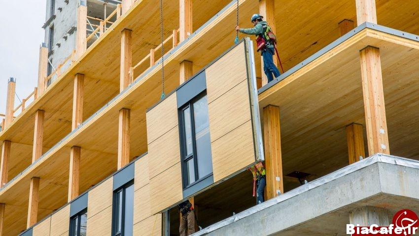 تکمیل ساخت بلندترین ساختمان چوبی جهان + تصاویر