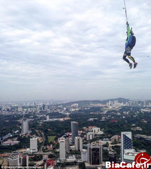 سقوط آزاد چتربازها در مالزی +تصاویر